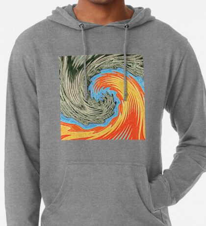 Abstract Wave Lightweight Hoodie