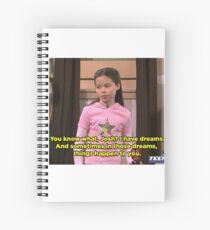 """Cuaderno de espiral MEGAN """"TENGO SUEÑOS"""" DRAKE & JOSH"""