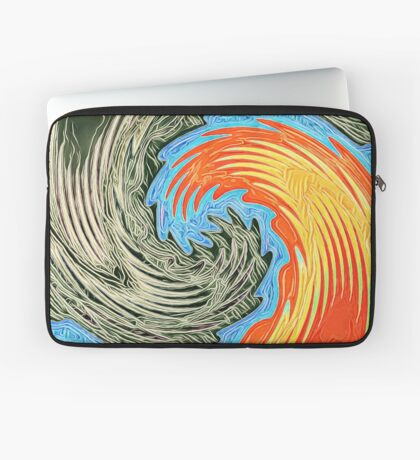 Abstract Wave Laptop Sleeve