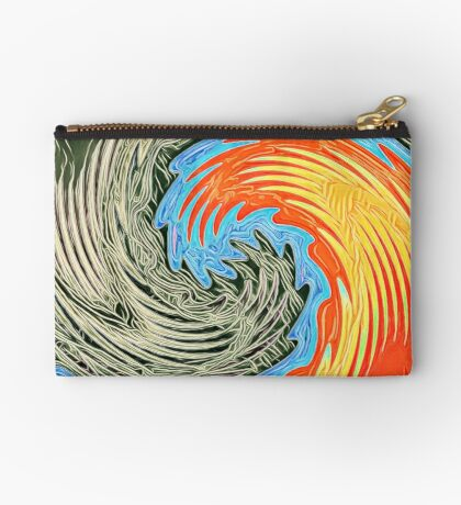 Abstract Wave Zipper Pouch