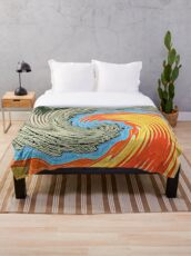 Abstract Wave Throw Blanket