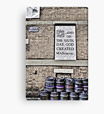On the Sixth Day....... Canvas Print