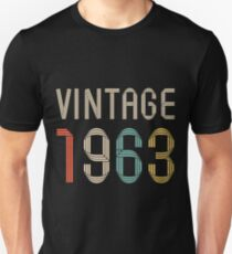 1963 54 years old birthday  T-Shirt