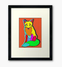 FOX PIXEL Framed Print