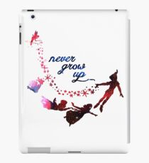 Never Grow Up Nebula Blue iPad Case/Skin
