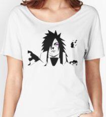 Naruto: Uchiha Madara Rinnegan Activated! (Black&White Version) Women's Relaxed Fit T-Shirt