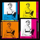 JANE AUSTEN - WARHOL-STYLE 4-UP COLLAGE ILLUSTRATION by Clifford Hayes
