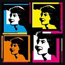 SYLVIA PLATH - WARHOL-STYLE 4-UP COLLAGE ILLUSTRATION by Clifford Hayes