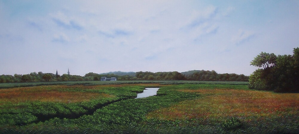 Summer on Cape Cod (Sandwich, MA) by Anthony Petchkis
