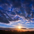Sunset in Blue and Gold by heidiannemorris