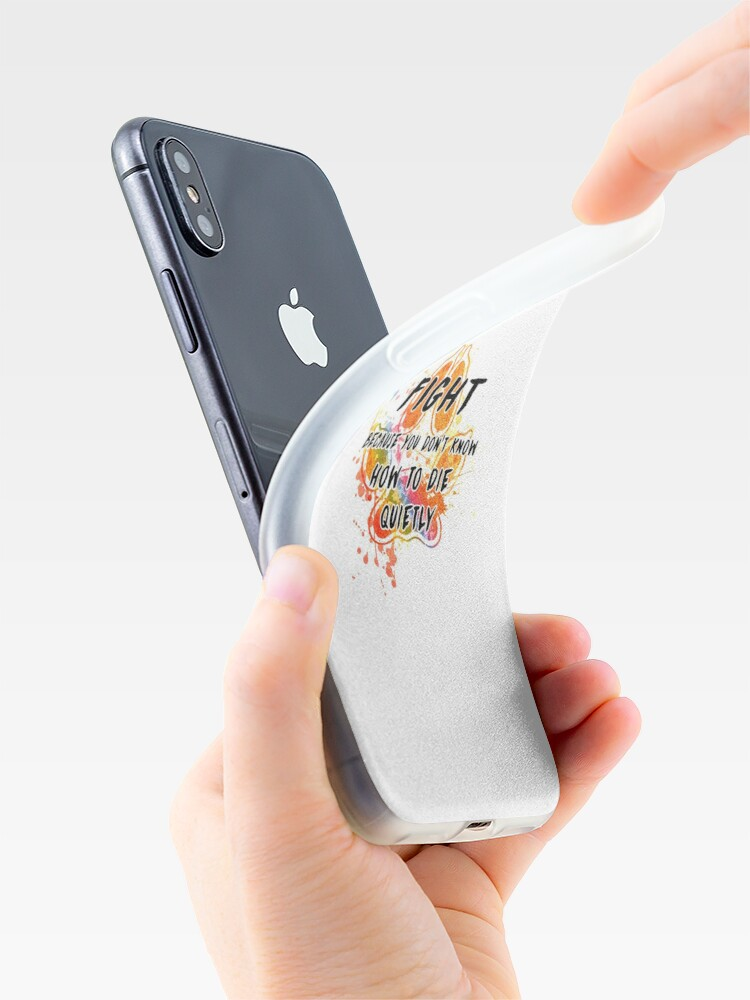 Vista alternativa de Vinilos y fundas para iPhone Lucha porque no sabes cómo morir tranquilamente (arcoiris)