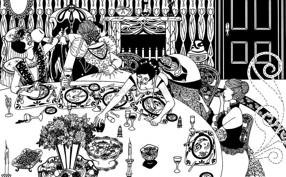 the dinner table by purplestgirl