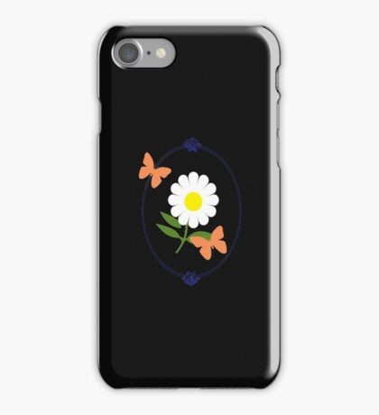 Daisy Butterfly Frame iPhone Case/Skin