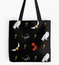 Rounded glasses boy Pattern Tote Bag
