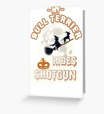 Bull Terrier Halloween Shirt Greeting Card