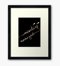 Mischief Managed (black) Framed Print