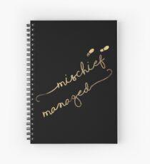 Mischief Managed (black) Spiral Notebook