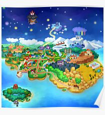 Paper Mario Map Poster
