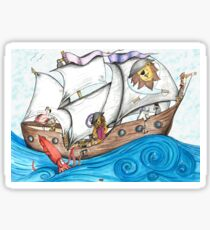Captain Leo And His Pirate Ship Sticker