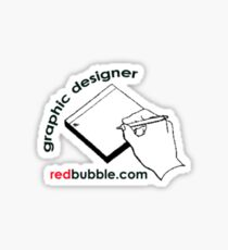 graphic designer redbubble.com Sticker