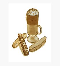 Cafe Mocha and Biscotti Photographic Print