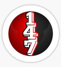 147 - Snooker -  The Perfect  Break -  Ball - Rad And Black- Circle Sticker