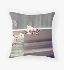 windowsill. first sign of spring. Throw Pillow