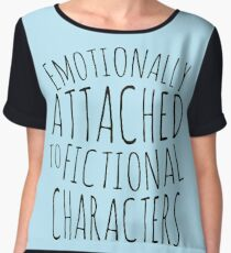 emotionally attached to fictional characters #black Chiffon Top
