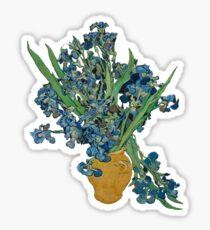 Van Gogh Iris Grunge Sticker