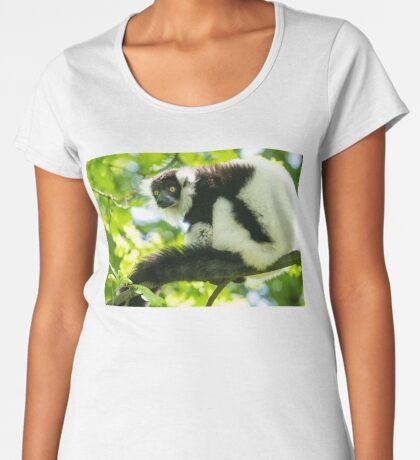Black-and-white Ruffed Lemur Women's Premium T-Shirt