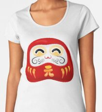 Daruma - Print for otaku and japanese enthusiasts Women's Premium T-Shirt