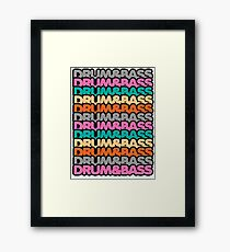 Drum & Bass (fierce) Framed Print