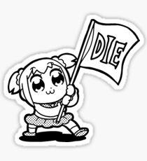 Popuko DIE Sticker