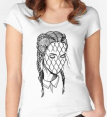 Girl Rabitz Face Women's Fitted Scoop T-Shirt