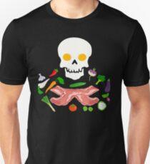 Breakfast Skull Egg Bacon And Vegetables Fun T-Shirt