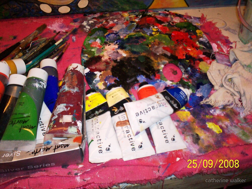 The Artists palette and other mess and junk by catherine walker