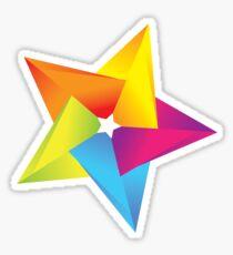 colorful star Sticker