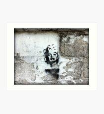 Marilyn Wall Grafitti Art Print