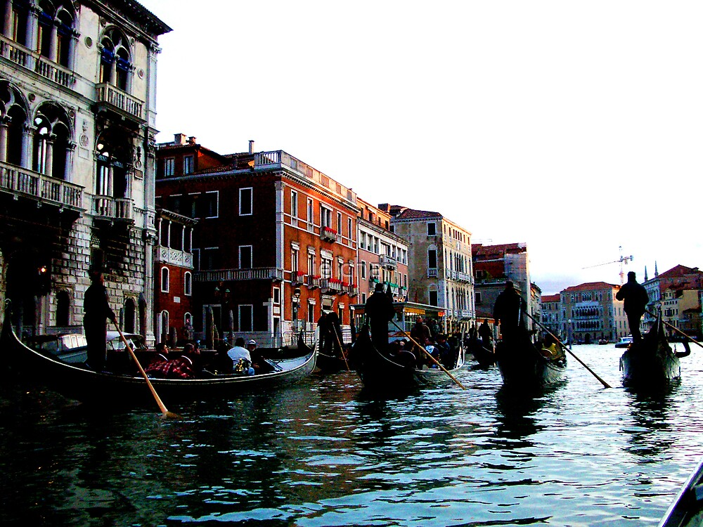 Gondolas in Venice by ielchan