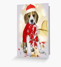 Beagle Dog Christmas Cards Greeting Card