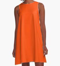 color orange red A-Line Dress