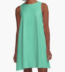color medium aquamarine  A-Line Dress