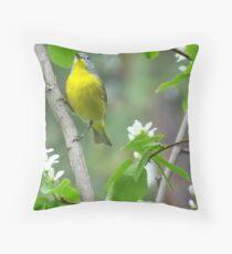 THE LITTLE BIRDIE SINGING Throw Pillow