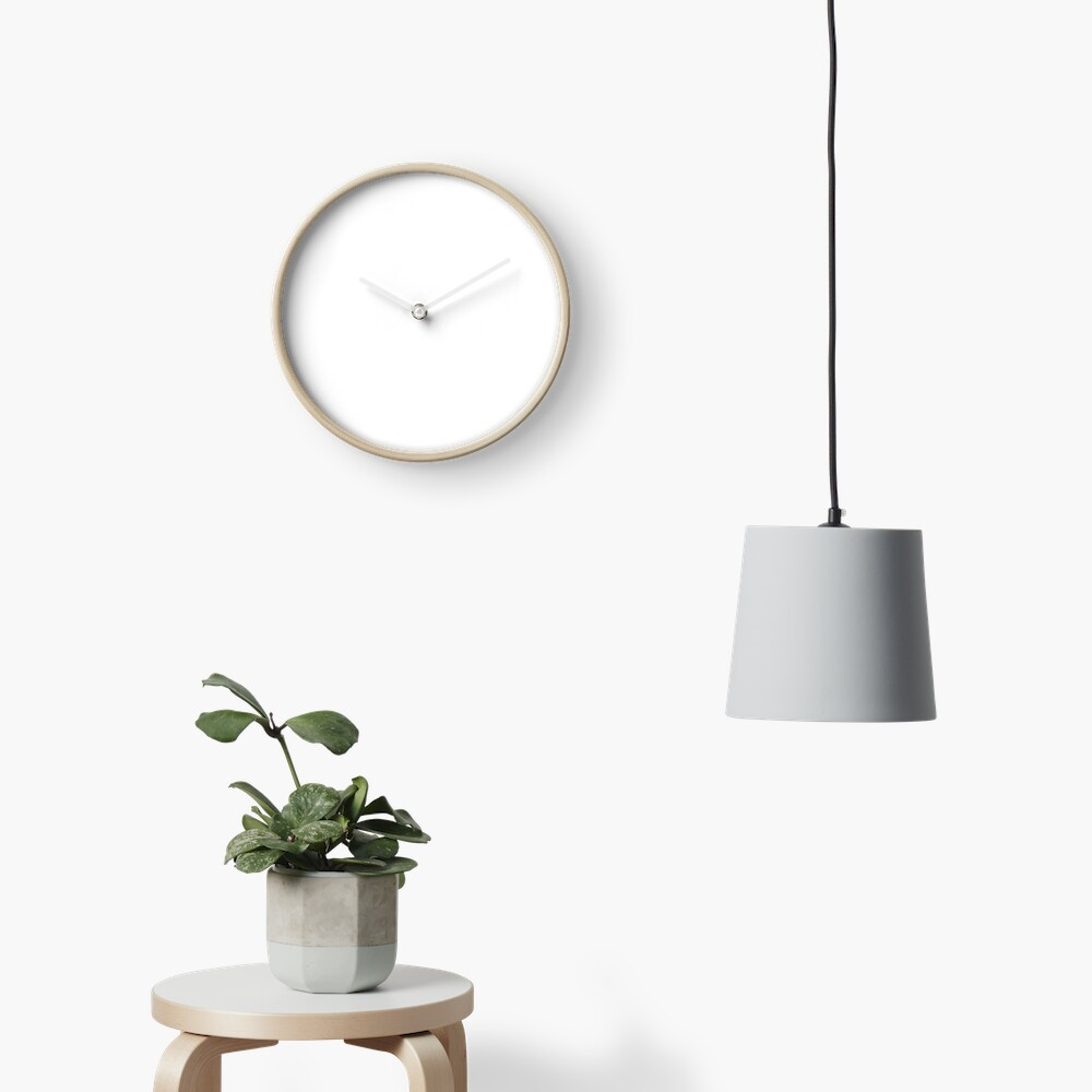 PLAIN WHITE | VERY WHITE | NEUTRAL SHADE | WE HAVE OVER 40 SHADES AND HUES IN THE NEUTRAL PALETTE Clock