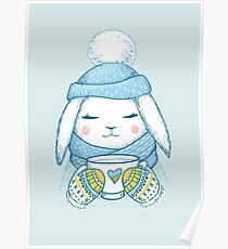Winter Rabbit Poster