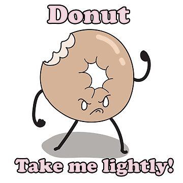 Grumpy Donut by feraldemon
