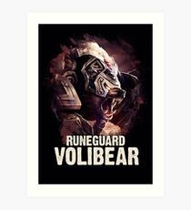 League of Legends RUNEGUARD VOLIBEAR Art Print