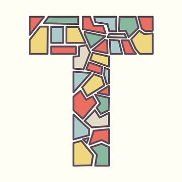 T illustrated alphabet letter by freshinkstain