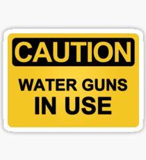 Water Guns In Use Sticker