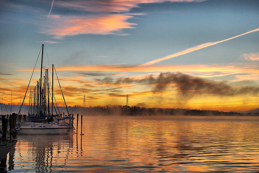Sunrise at Lake Norman I by lightboxfactory